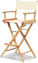 Telescope Casual World Famous Bar Height Director Chair, Natural with Varnish Frame