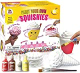 DOODLE HOG Arts and Crafts for Girls - DIY Dessert Paint Your Own Squishies Kit. Gifts for Craft Lovers Ages 8 9 10 Top Christmas Toys. Box Includes Large Slow Rise Squishies, and Fabric Paint Colors