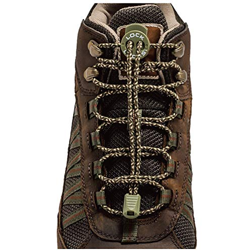 Lock Laces for Boots (1 Pair) Premium Heavy Duty Elastic No Tie Boot Laces for Boots and Shoes (Camo)