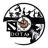 Wall Clock Compatible with Vinyl Dota 2 - Game - Handmade - Get Unique Presents for Birthday, Christmas, Anniversary - Ideas for Boys, Girls, Men, Women, Adults, him and her - Unique Design
