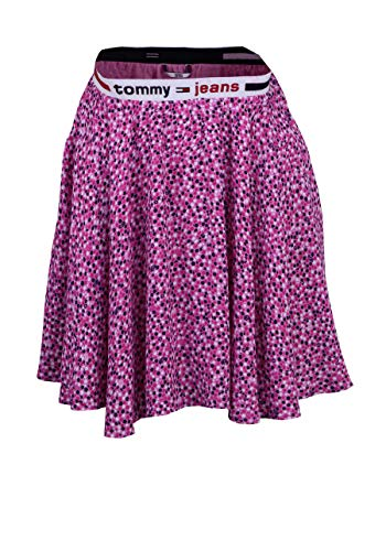 Tommy Jeans Damen Rock TJW Printed Mini Skirt Ditsy floral Print/pink Daisy - M