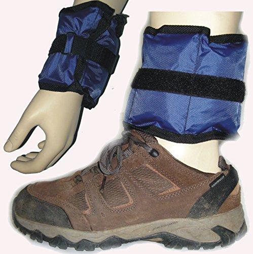 BAY Paar Gewichtsmanschetten Hand und Fuß 2X 2,25 Kilo Gesamt 4,5 Kilo Fußgewichte Handgewichte Fußmanschetten Armgewichte