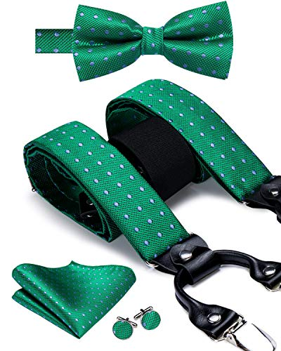 Dubulle - Juego de gemelos cuadrados de bolsillo y tirantes con clips fuertes