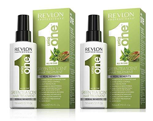 REVLON PROFESSIONAL 2x Uniq One Hair Treatment Green Tea Scent je 150ml Sprühkur 2 Stück