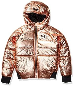 Under Armour Girls  Ua Glitz Prime Bomber Jacket Rose Gold Metallic YMD