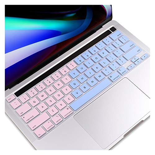 Easy to use EU/UK/US Type TPU Clear Keyboard Cover For Macbook Newest Pro 13 2020 A2251 A2289 Pro 16 inch 2019 A2141Touch Bar keyboard Skin Keybaord Skin Protector (Color : US English pinkblue)