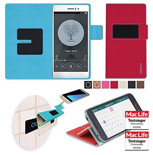 Hülle für Oppo R5 Tasche Cover Hülle Bumper | Rot | Testsieger