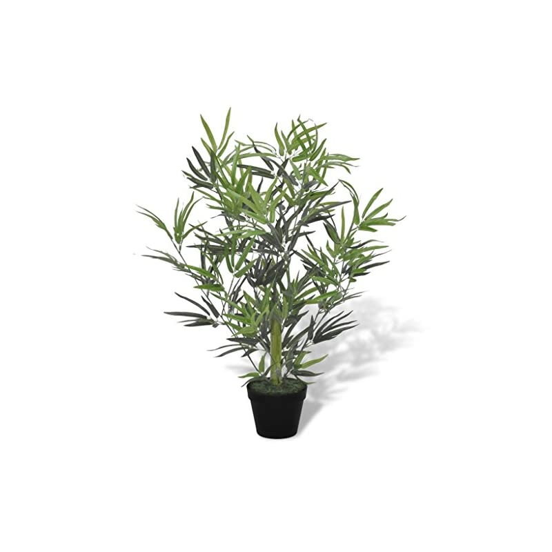 """silk flower arrangements pocreation 31"""" artificial bamboo leaf fig tree,faux plant feaux ficus lyrata plant with 460 leaves for indoor outdoor fake plants in pot for home office perfect housewarming gift"""