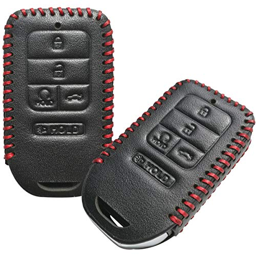 2Pcs Coolbestda Leather Keyless Remote Entry Cover Accessories Protector Holder Case for 2019 2018 2017 2016 2015 Honda Accord Civic CR-V CRV Pilot EX-L Touring Premium A2C81642600