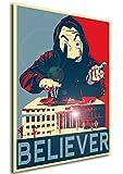 Instabuy Poster Propaganda La Casa de Papel Believer A4