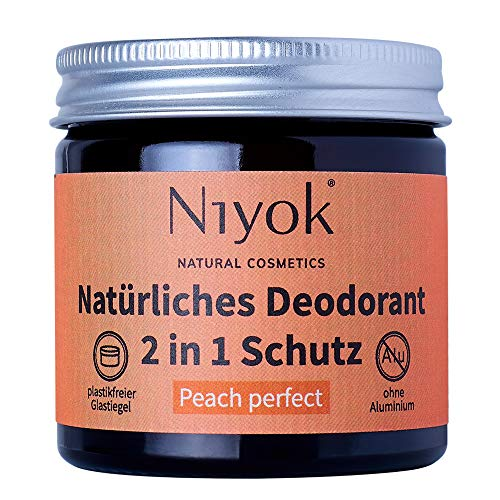 Niyok® 2 in 1 Deodorant Creme Anti-Transpirant - Peach Perfect – 40ml