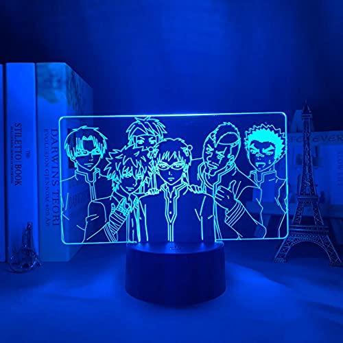 Anime llevó la luz de la noche la vida desastrosa de Saiki K para dormitorio decoración regalo colorido noche manga 3D lámpara Saiki K