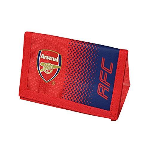 Arsenal FC Official - Cartera con cierre adhesivo, colores en degradado y escudo (Talla Única) (Rojo Azul)