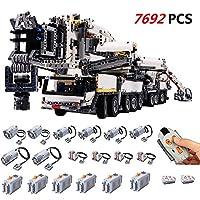 TETAKE Technik Liebherr Kran mit 8 Motoren, Ferngesteuert Kranwagen Modellbausatz mit 7692 Teilen, Technic Mobiler Schwerlastkran, Großes Kran-LKW Konstruktionsspielzeug
