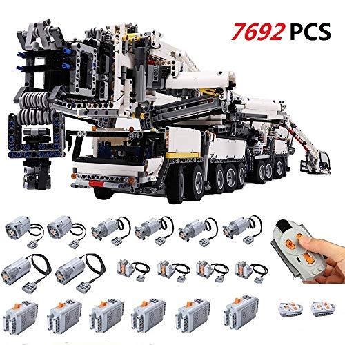 Foxcm Technic Grua Liebherr Kit con Power Functions, Maqueta RC Camión Grúa para Construir, 7692 Piezas Juguetes de Construcción Compatibles con Otras Marcas