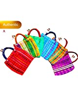Alondra's Imports New (TM) Uniquely Designed, Mini Mexican Tote Favor Bags (Mexican Candy Bags - Mexican Mercado Bags - Mexican Mesh Bags - Bolsas para Fiestas) 10 x 7 - Multi-Colored (24 Pack)