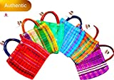 Alondra's Imports New (TM) Uniquely Designed, Mini Mexican Tote Favor Bags (Mexican Candy Bags - Mexican Mercado Bags - Mexican Mesh Bags - Bolsas para Fiestas) 10 x 7 - Multi-Colored (6 Pack)