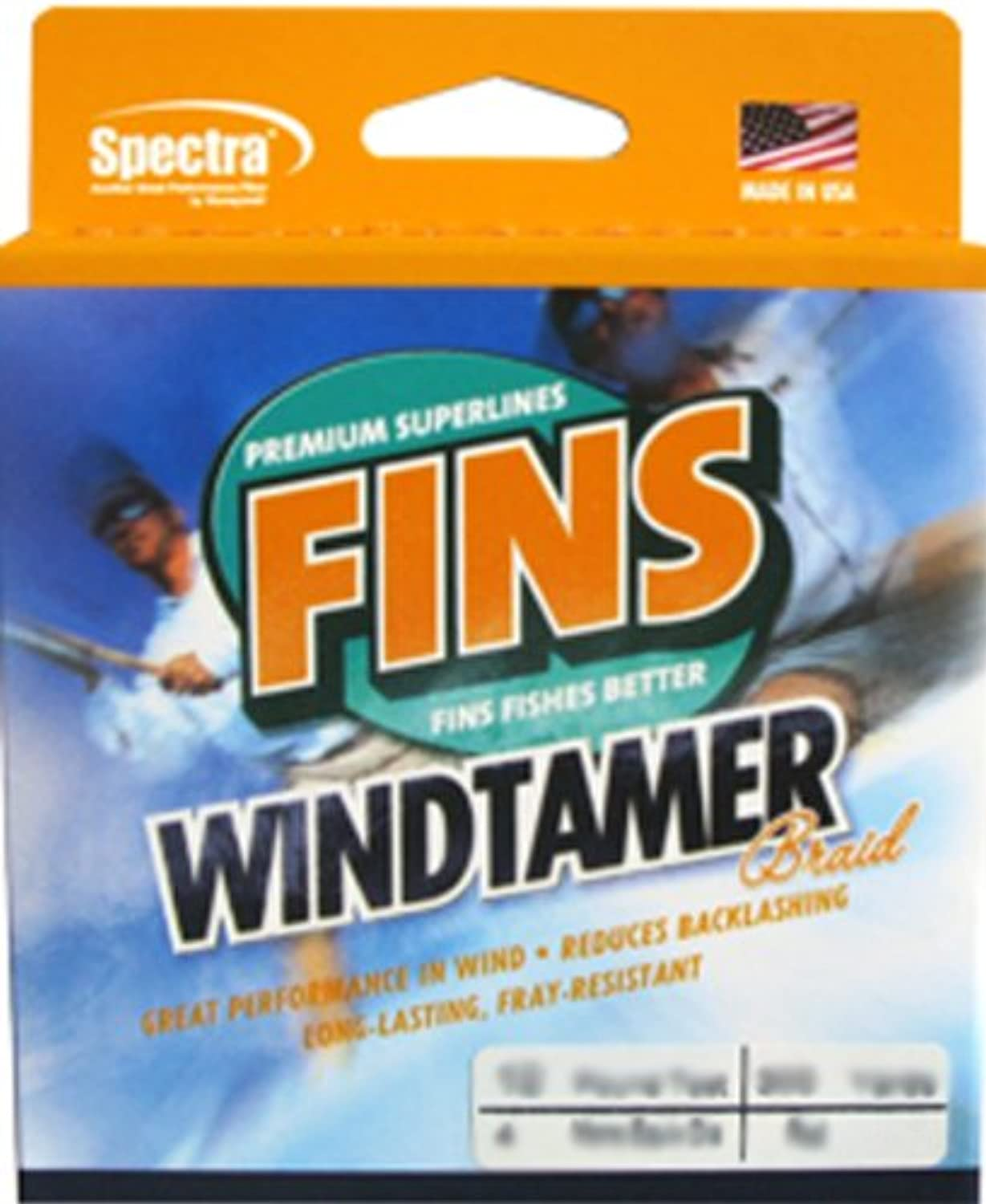 Fins Fishing Flossen Spectra 300-yards Windtamer Angelschnur B009C2XGSA  Preisrotuktion