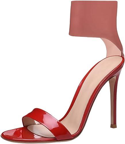 SYYAN Femmes Rome Rome PVC Bout Ouvert Manuel Robe Sandales Noir Rouge, rouge, 36  à vendre
