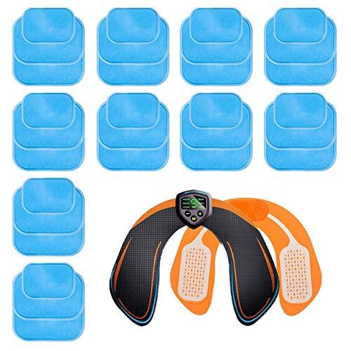 elettrostimolatore ricambi ZITFRI 30 PCS Gel Pad di Ricambio per Elettrostimolatore EMS Glutei ABS Gel Pad per Tonificatore Muscolare Glutei Adesivo per Gel per Patch(3 PCS/Sacchetto