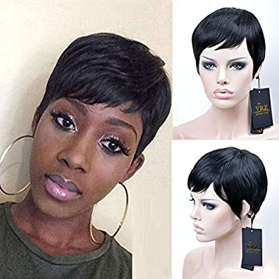 VRZ Short Pixie Cut Wigs Human Hair for Women 9006 8815a 9001 MT