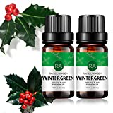 2-Pack Wintergreen Essential Oil 100% Pure Oganic Plant Natrual Flower Essential Oil for Diffuser Message Skin Care Sleep - 10ML