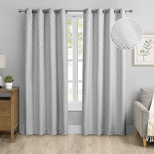 MODERNOVIA Silver Gray 52x108 inch …