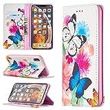 Coque de téléphone Pour iPhone XS XS MAX PROMIUM PU Portefeuille Porte-Porte-Porte-Public, Cuir...