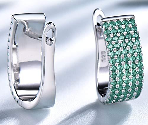 XIRENZHANG Pendientes vintage con diseño de esclavos de personalidad, para mujer, color verde