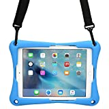 Cooper Trooper 2K [ÉTUI Robuste Anti Choc] Tablette Apple iPad Mini 4 3 2 1 Coque Protection Support Poignée Main Bandoulière Adulte Enfant (Bleu)