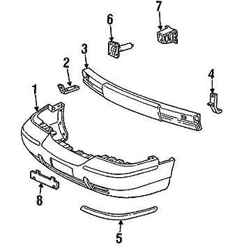 Genuine Ford 3W1Z-17C830-BA Bumper Bar Molding