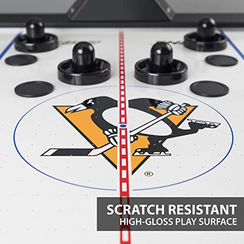 NHL Air Powered Hockey Table - Pittsburgh Penguins - 84 Inch- Features...