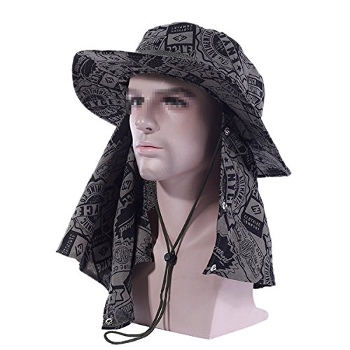 Fletion Anti-moustiques extérieur soleil Chapeau avec Head Net Mesh Protection visage pêche Chapeaux Pliables Caps Camouflage