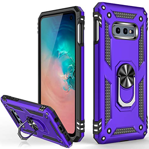 Galaxy S10+ Plus Case,(NOT for Small S10),Military Grade 16ft. Drop Tested Cover with Magnetic Ring Kickstand Compatible with Car Mount Holder,Protective Phone Case for Samsung Galaxy S10 Plus Purple