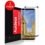 Galaxy S8 Plus Screen Protector[3-Pack],Auideas [Case Friendly] Ultra Clear 3D PET HD Screen Protector Film for Samsung Galaxy S8 Plus Black.