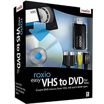 Roxio Easy VHS to DVD for Mac | VHS Hi8 V8 Video to DVD or Digital Converter [Mac Disc]