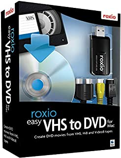 Roxio Easy VHS to DVD for Mac   VHS, Hi8, V8 Video to DVD or Digital Converter [Mac Disc]