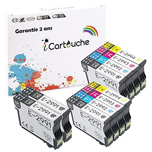 iCartouche Cartucho de Tinta Compatible para Epson 29XL Expression Home XP-235 XP-245 XP-247 XP-255 XP-257 XP-332 XP-335 XP-342 XP-345 XP-352 XP-355 XP-432 XP-435 XP-442 XP-452 XP-455 (4BK 2C 2M 2Y)