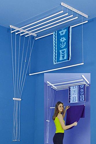 SODIAC-Tendedero para techo ETEND 'MIEUX ® 5 barras, 49 x 80 cm, capacidad hasta 4 m