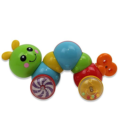 0d962587e70 Toddler Press N Go Caterpillar Inchworm Baby Push Rattle Activity Toy