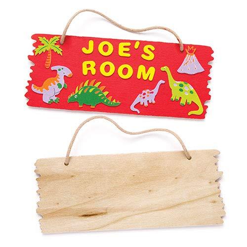 Baker Ross Holzplaketten zum Aufhängen - für Kinder zum Bemalen - toll als Geschenk zum Vatertag (3 Stück)