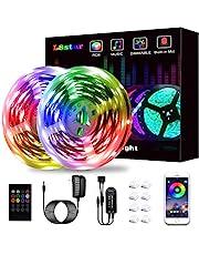 L8star Ledstrip, SMD 5050 RGB, met bluetooth-controller, synchronisatie met muziek, geschikt voor televisie, slaapkamer, feest- en thuisdecoraties