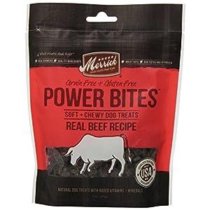 Merrick Power Bites Real Texas Beef Recipe Treats 6oz (2 PACK)