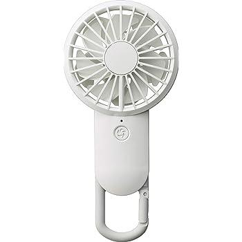 リズム時計工業(Rhythm) 携帯扇風機 白 【改良】 USBファン 充電式 カラビナ 小型 強力 DCブラシレス 9ZF028RH03 17.7x8.5x3.5cm