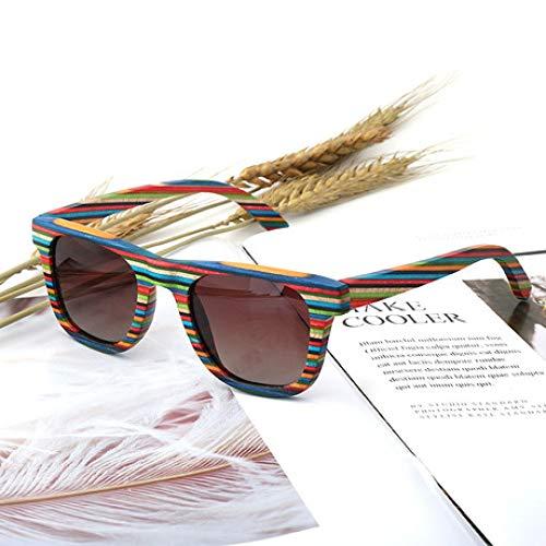 YDJGY Gafas De Sol Gafas de protección UV polarizadas para Exteriores de Personalidad Multicolor para Hombres y Mujeres Regalo de Moda