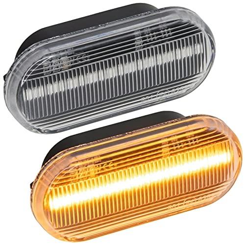 LED SEITENBLINKER passend für Bora, Golf 3, Golf 4, Lupo, Vento, Fox   KLARGLAS