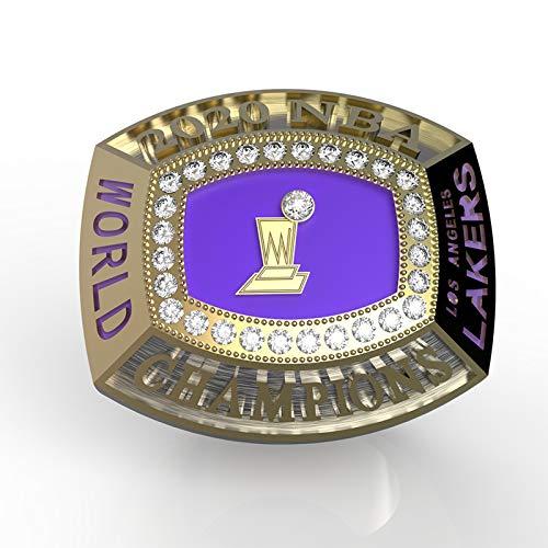 KHHK Anillo de Campeonato de Los Angeles Lakers Anillos Masculinos de la NBA Anillos Brillantes de Diamantes 3D de Europa y América