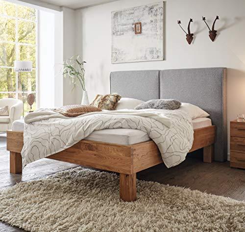 Hasena Oak Wild Bett Cadro 23 Füße Ivio 20 Wandpaneel Wildeiche Natur 180x200