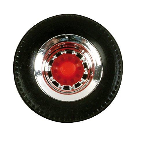 herpa 052610 - Reifen für Auflieger, 12 Sätze, Chrom/rot