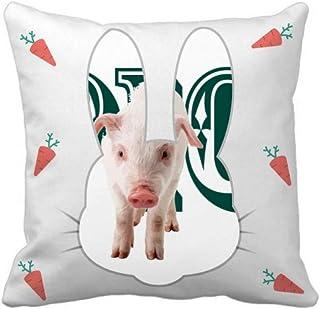 OFFbb-USA Stereosensory Animal Carne de conejo, manta de almohada cuadrada